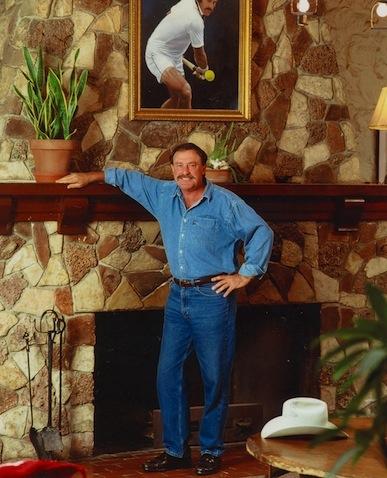 John Newcombe at the Tennis Ranch