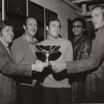 From left : Cliff Richey, Fred Stolle, Me, Arthur Ashe, Stan Smith.